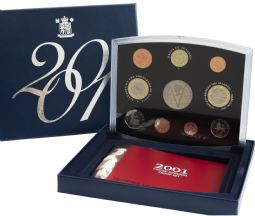 2001 Proof set Flat Standard for sale - English Coin Company